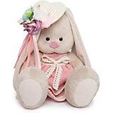Мягкая игрушка Budi Basa Зайка Ми в бледно-розовом платье и шляпке с цветами, 18 см