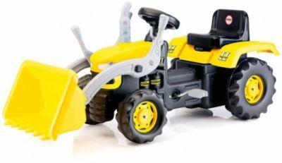 Педальный трактор-экскаватор DOLU, желто-черный