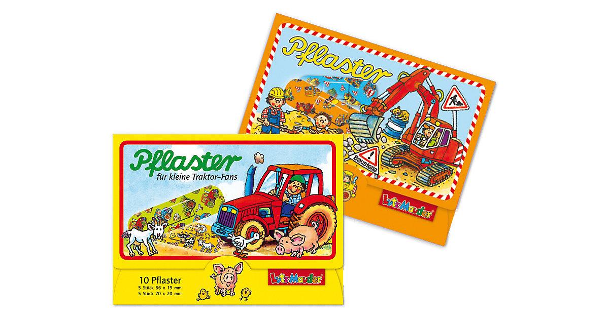 Lutz Mauder Verlag · Pflasterbriefchenset Baustelle + Traktor, 20 Stück