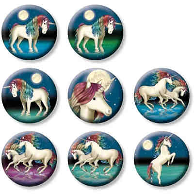 Mini-Button-Set Einhorn Lunabelle, 8-tlg.