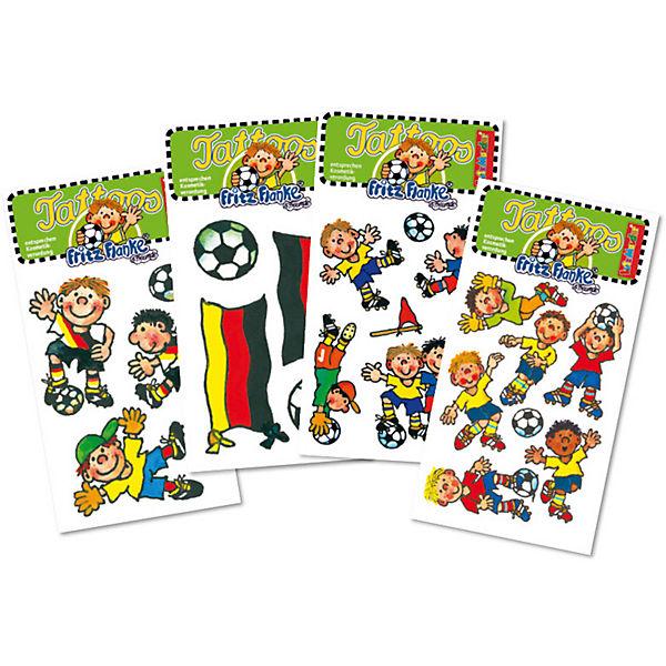 Tattooset Fußball, 4 Bögen, Lutz Mauder Verlag