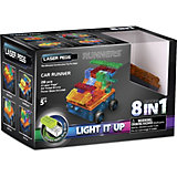 """Светящийся конструктор 8 в 1 Laser Pegs """"Военная машина"""" с цветными деталями, 28 деталей"""