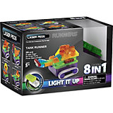 """Светящийся конструктор 8 в 1 Laser Pegs """"Танк"""" с цветными деталями, 26 деталей"""