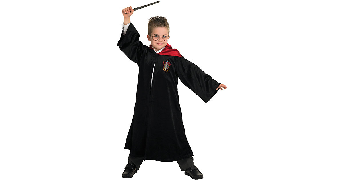 Kostüm Harry Potter Robe Deluxe schwarz Gr. 110/116 Jungen Kinder