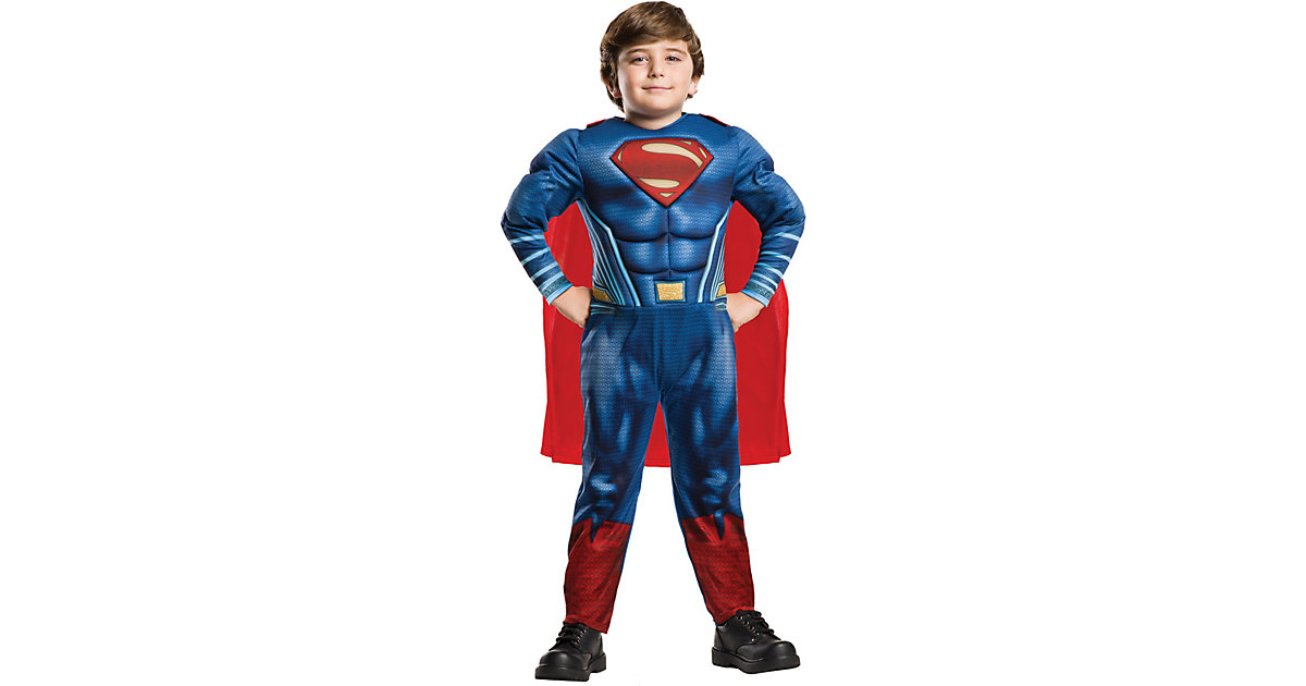 Kostüm Superman Justice League Deluxe blau Gr. 110/116 Jungen Kinder