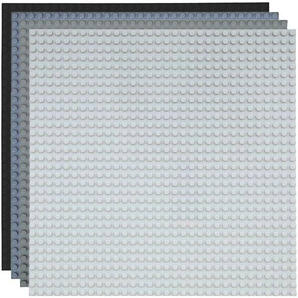 Basisplatte 32x32 Vier Grau Farben,