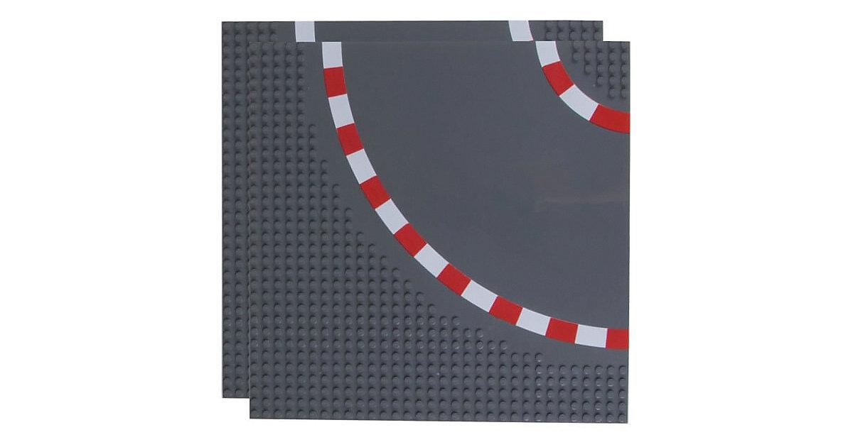 Basisplatte Rennstrecke Kurven  32x32 Zweierpack