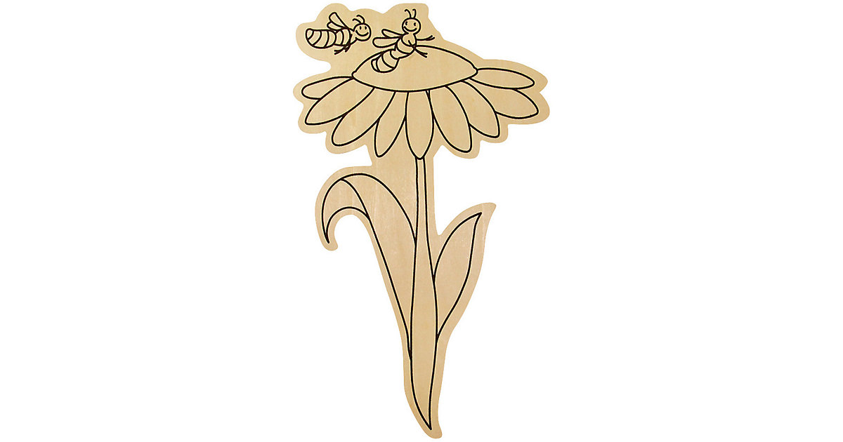 Blumenstecker zum Bemalen, 6 Stück