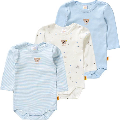 Steiff Baby Langarmbody + Strampler Gr. 68 Jungen Baby | 04056178878053