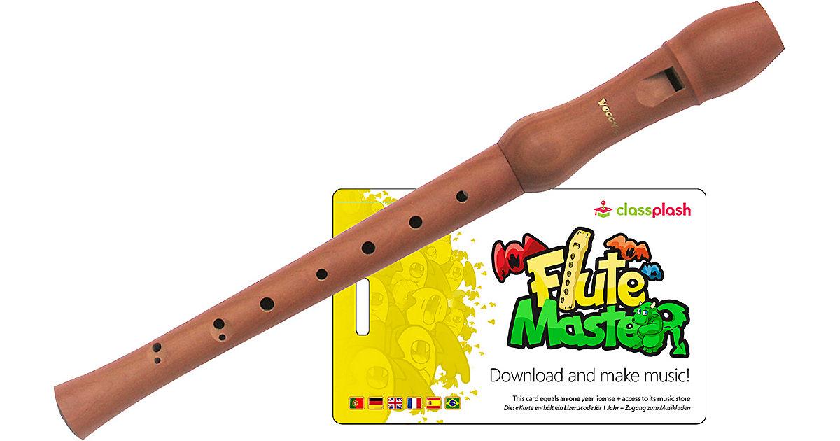 Flute Master (App) mit Blockflöte aus Bergahorn (barocke Griffweise)