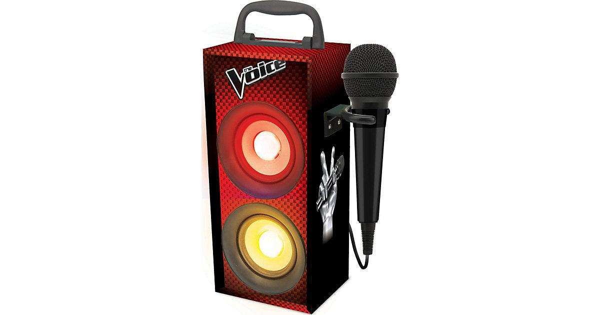 Bluetooth Mini-Turmlautsprecher The Voice inkl. Mikrofon schwarz/rot
