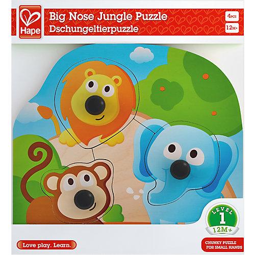 Рамка-вкладыш Hape Большие носы джунгли от Hape