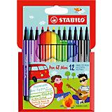 "Фломастеры Stabilo ""Pen mini"", 12 цветов"