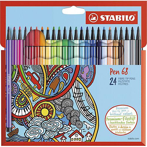 "Фломастеры Stabilo ""Pen"", 24 цвета от STABILO"