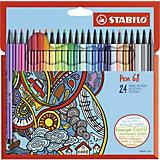 "Фломастеры Stabilo ""Pen"", 24 цвета"