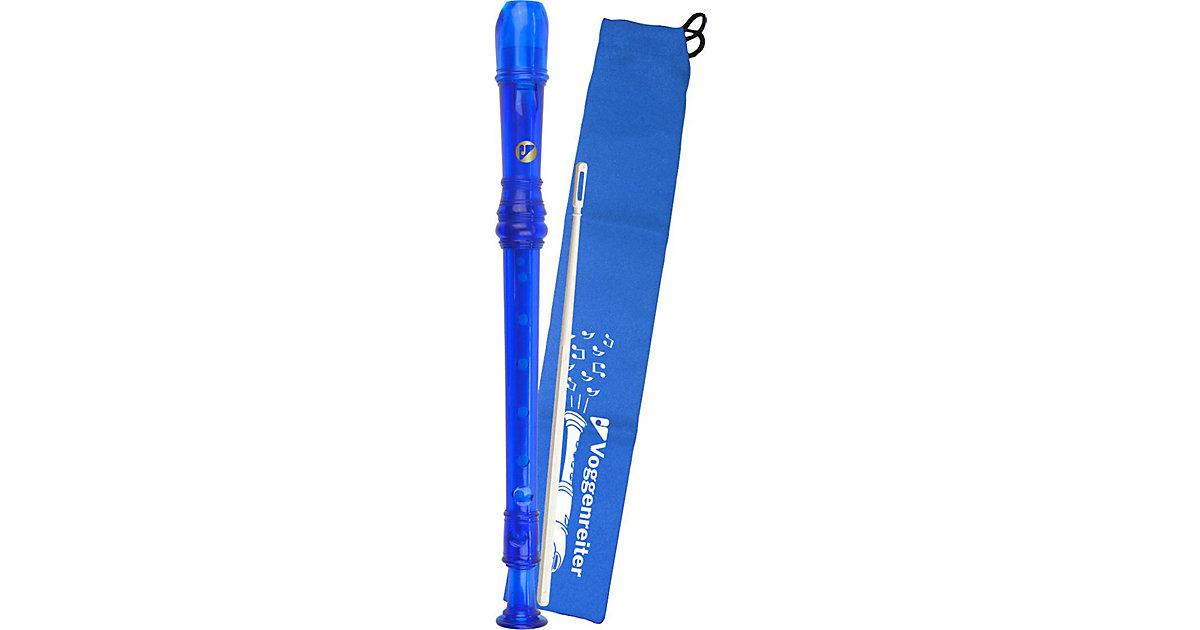 Voggys Kunststoff-Blockflöte (blau), barocke Griffweise