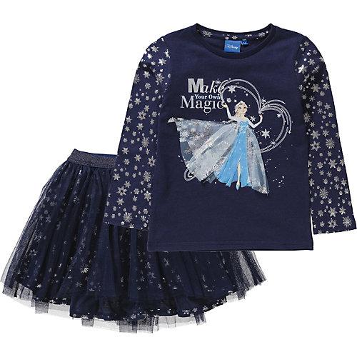 Disney Die Eiskönigin Kinder Set Langarmshirt + glitzernder Tüllrock Gr. 116 Mädchen Kinder | 03609081457375