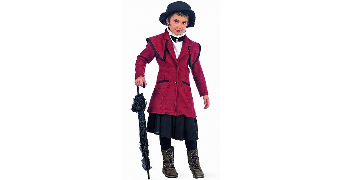 Kostüm Mary Poppins rot Gr. 152/158 Mädchen Kinder