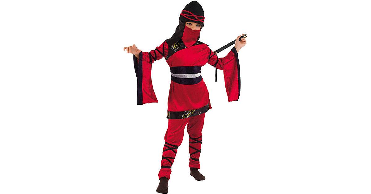 Kostüm Ninja-Girl rot Gr. 128/140 Mädchen Kinder