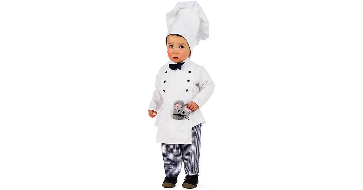 Kostüm Kleiner Chefkoch weiß Gr. 104/110 Jungen Kleinkinder