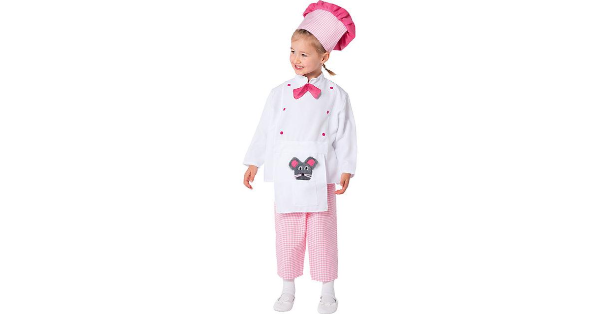 Kostüm Kleine Chefköchin rosa Gr. 104/110 Mädchen Kleinkinder