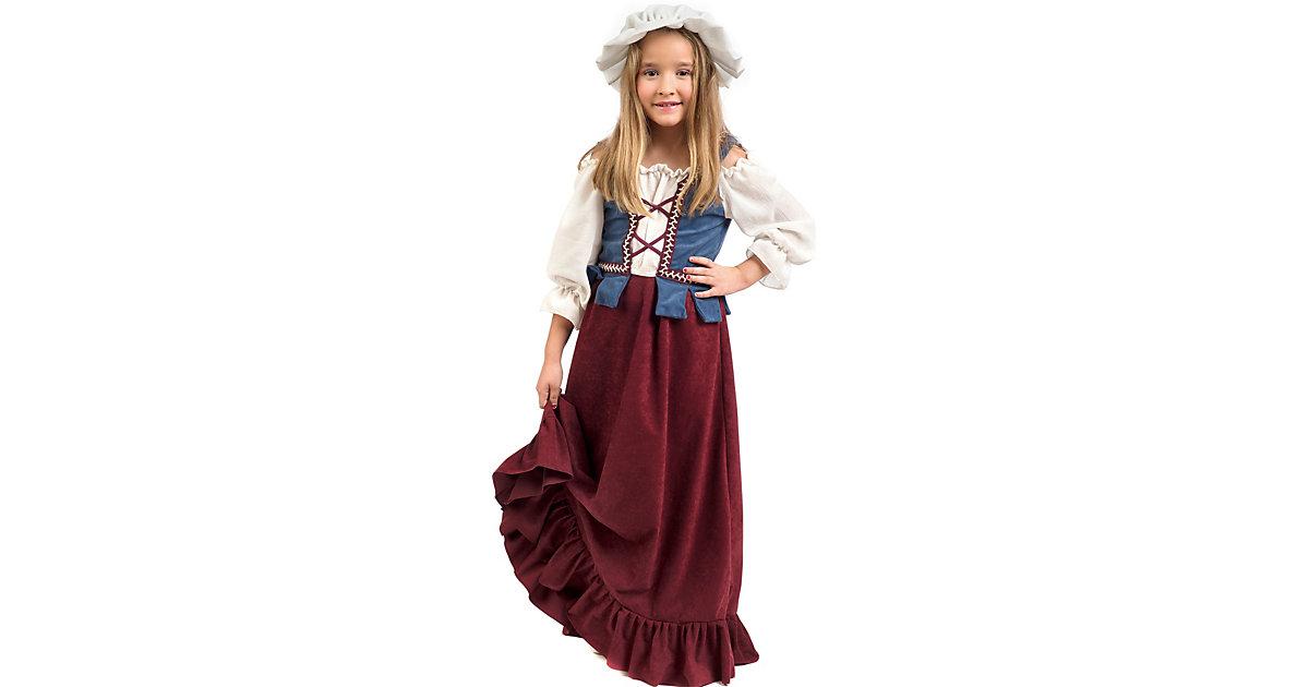 Kostüm Magd/Bauernmädchen mehrfarbig Gr. 140/152 Mädchen Kinder