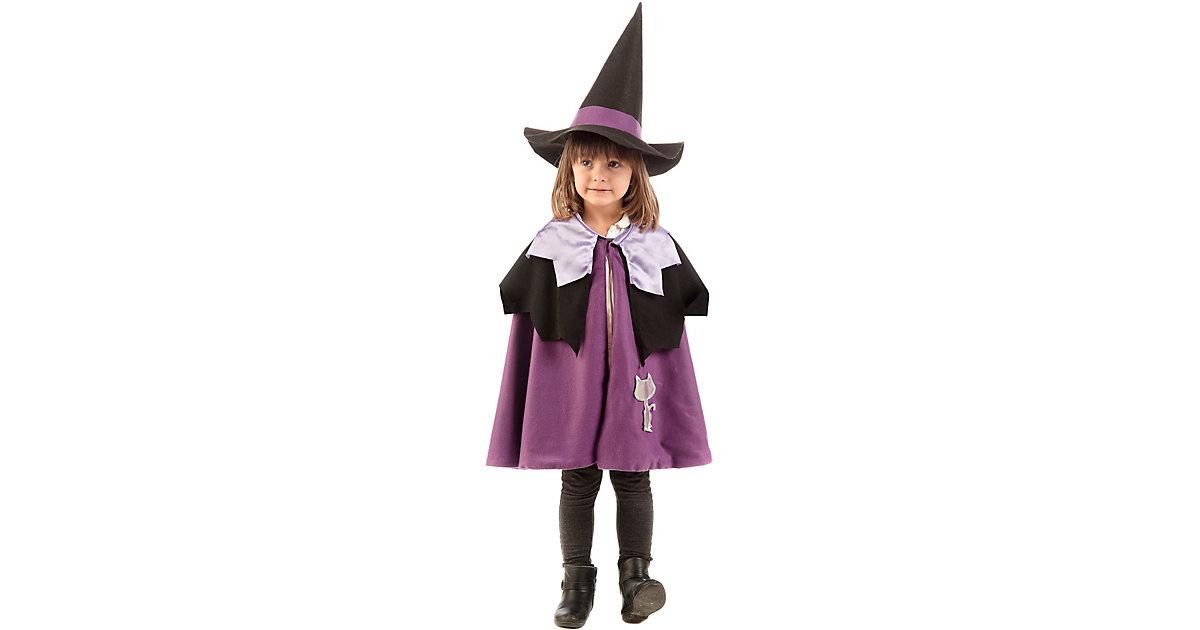 Kostüm Umhang Hexe Gr. 116/128 Mädchen Kinder