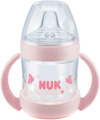 Marienk/äfer Nuk Flexi Cup Trinklernflasche BPA-frei mit Clip /& Schutzkappe auslaufsicher rosa 300 ml Trinkhalm