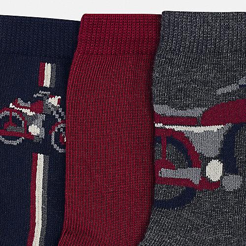 Носки Mayoral, 3 пары - бордовый от Mayoral