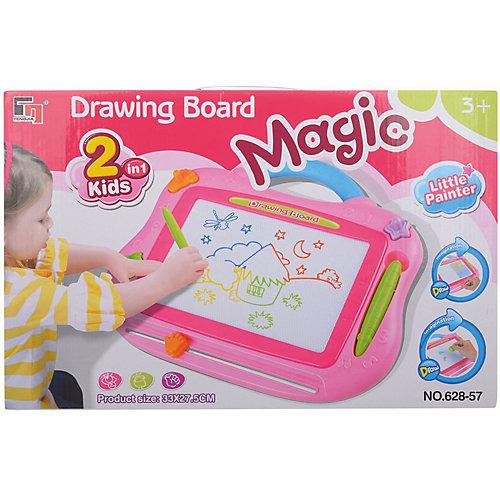 Магнитная доска для рисования, розовая