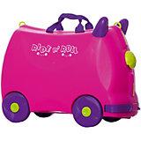 Чемодан на колесиках Ride n'Roll розовый, высота 33 см