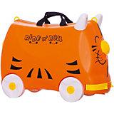 Чемодан на колесиках Ride n'Roll оранжевый, высота 33 см