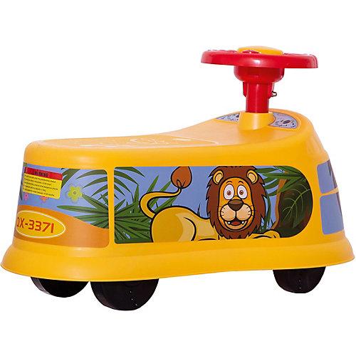 """Машинка-каталка """"Транспорт"""", желтая от Qunxing Tongzhile"""