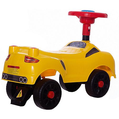 """Машинка-каталка """"Мини"""", желтая от Qunxing Tongzhile"""
