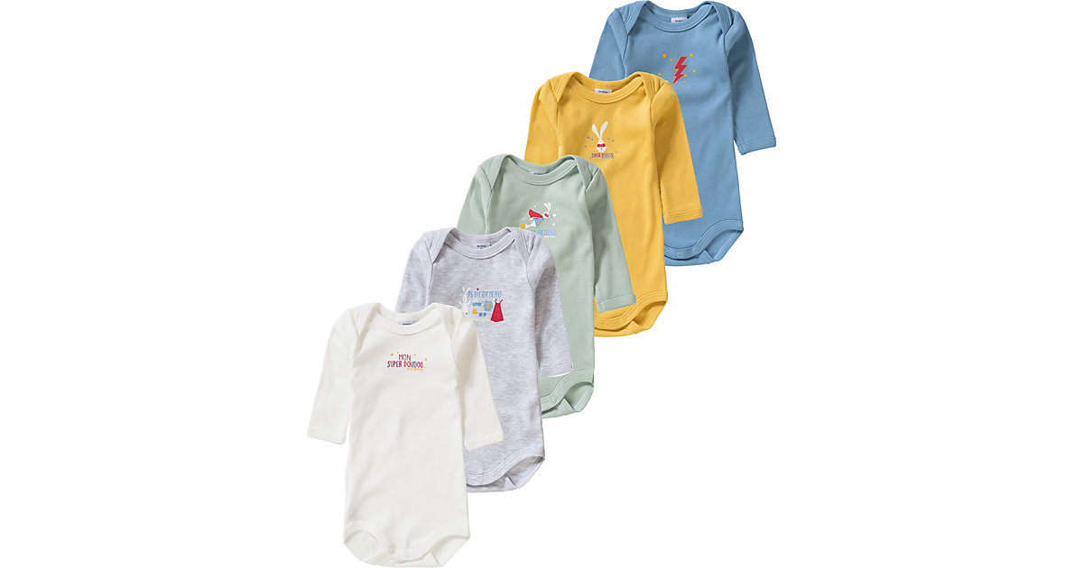 PETIT BATEAU · Bodies 5er Pack Gr. 80 Jungen Baby