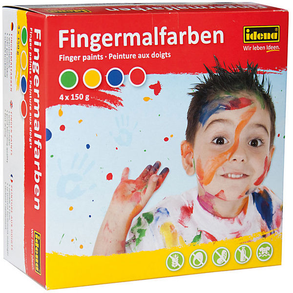 Fingerfarben, 4 x 150 ml