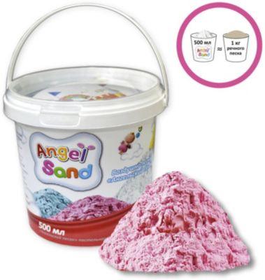 """Кинетический игровой песок Donerland """"Angel Sand"""" 0,5 л., розовый"""
