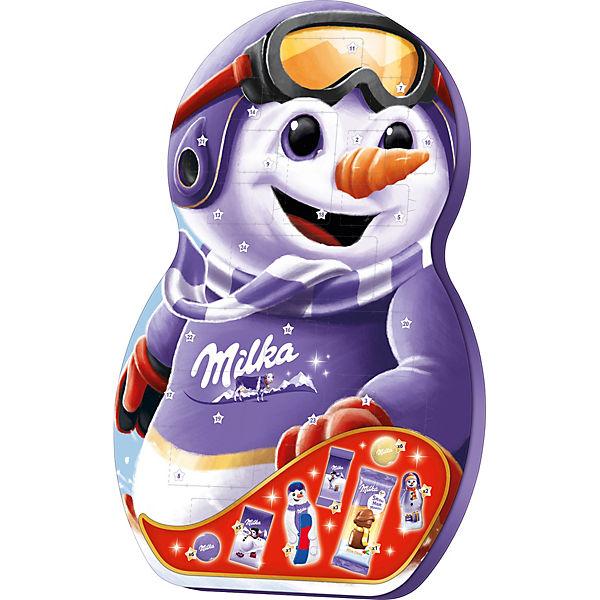 Milka Weihnachtskalender.Milka Adventskalender Snow Mix