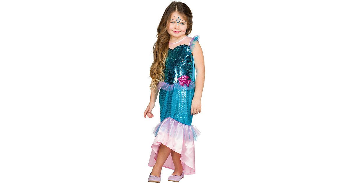 Kostüm Nixe Gr. 116 Mädchen Kleinkinder