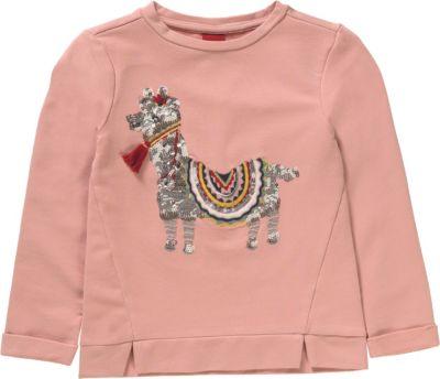 Sweatshirt mit Pailletten für Mädchen, Lama, s.Oliver