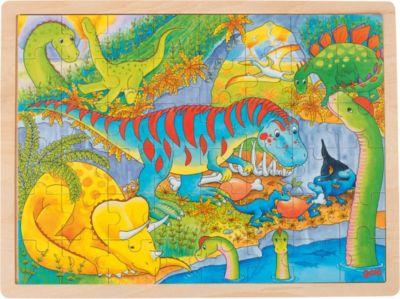 Puzzle Katze Einlegepuzzle aus Holz Goki Holzspielzeug