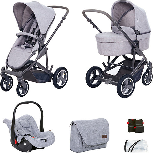 kombi kinderwagen catania 4 air travel set woven grey 2018 abc design mytoys. Black Bedroom Furniture Sets. Home Design Ideas