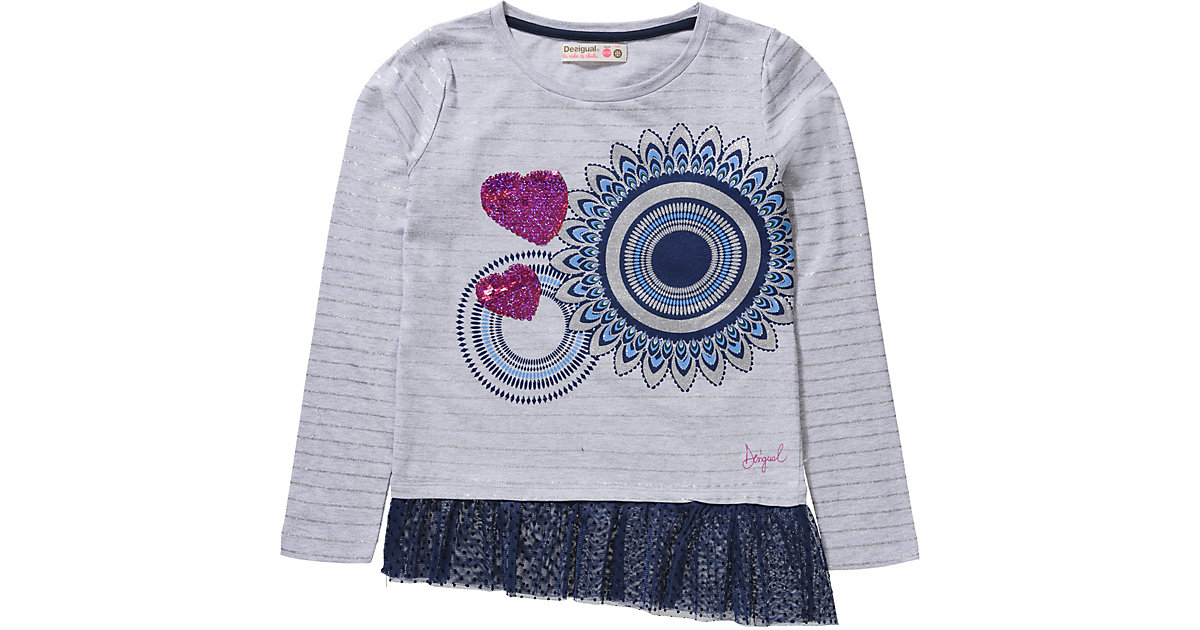 Desigual · Langarmshirt mit Wendepailletten und Spitze Gr. 158/164 Mädchen Kinder