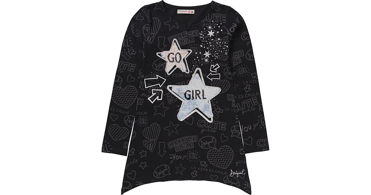 Desigual · Langarmshirt mit Wendepailletten Gr. 146/152 Mädchen Kinder