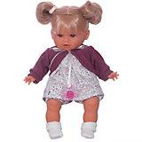 """Кукла Juan Antonio Munecas """"Монси"""" в фиолетовом, 30см."""