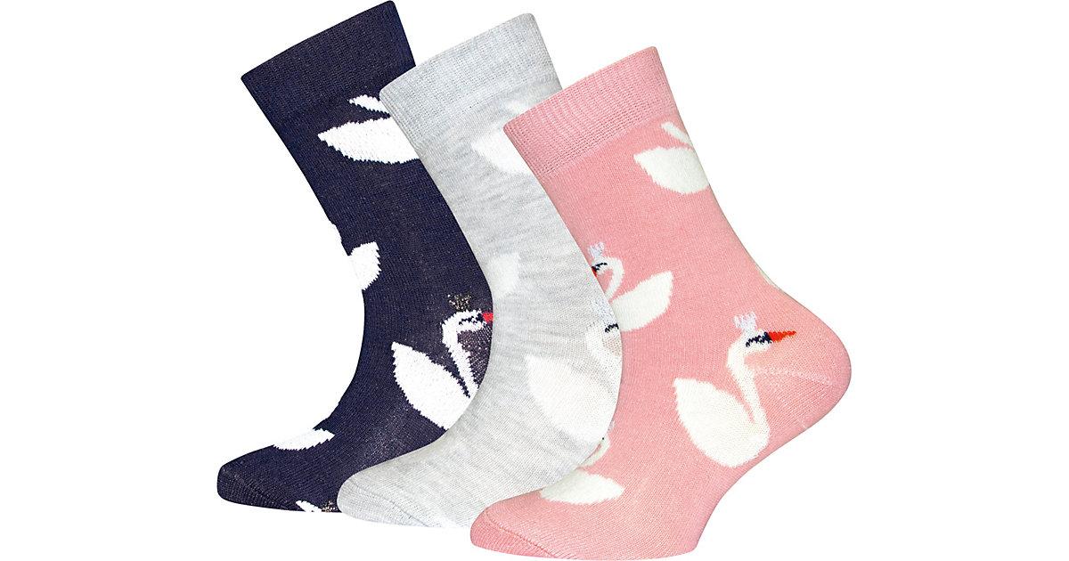ewers · Socken 3er-Pack , Schwan Gr. 27-30 Mädchen Kinder