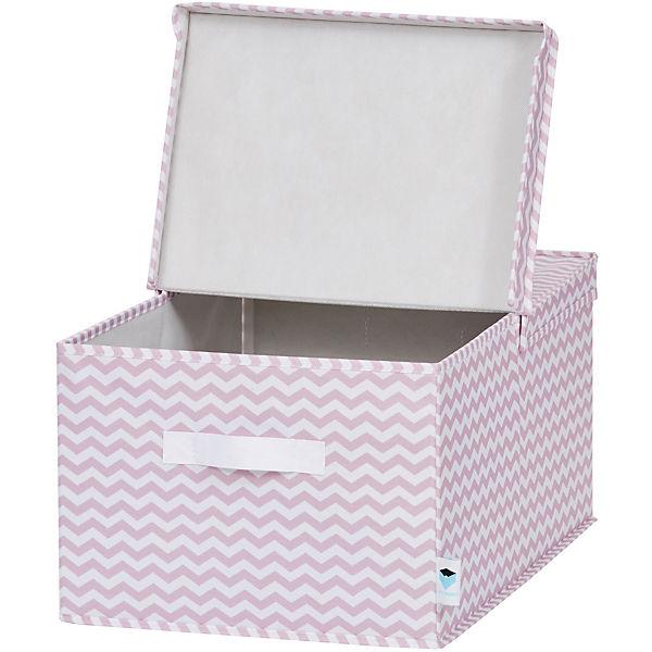 Ordnungsbox mit Klappdeckel, rosa Chevron, STORE IT! | myToys