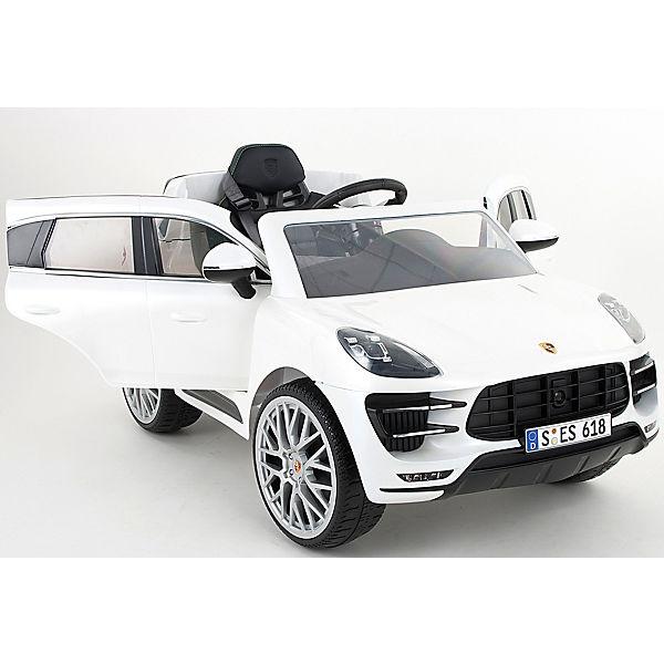 Porsche Macan Turbo 6V SUV mit RC, weiß, Rollplay Rollplay weiß, be1252