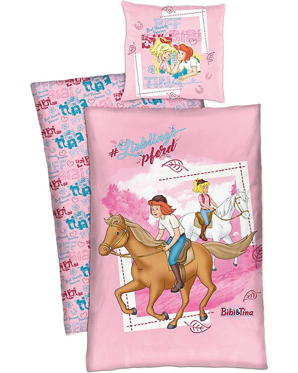 Wende Kinderbettwäsche Bibi Tina Lieblingspferd Renforcé 135