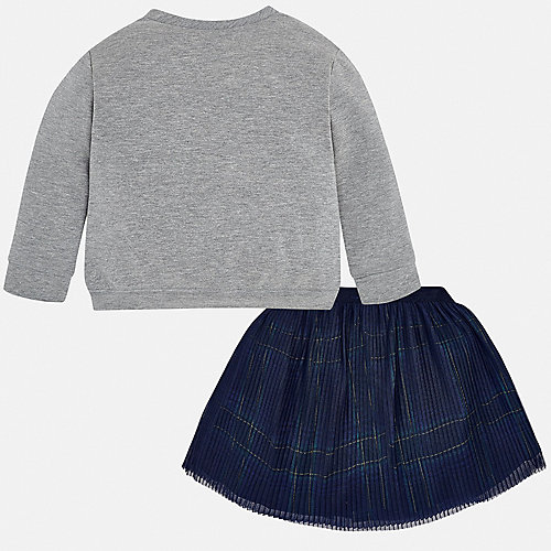 Комплект Mayoral: лонгслив и юбка - серый от Mayoral